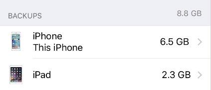 phone backups
