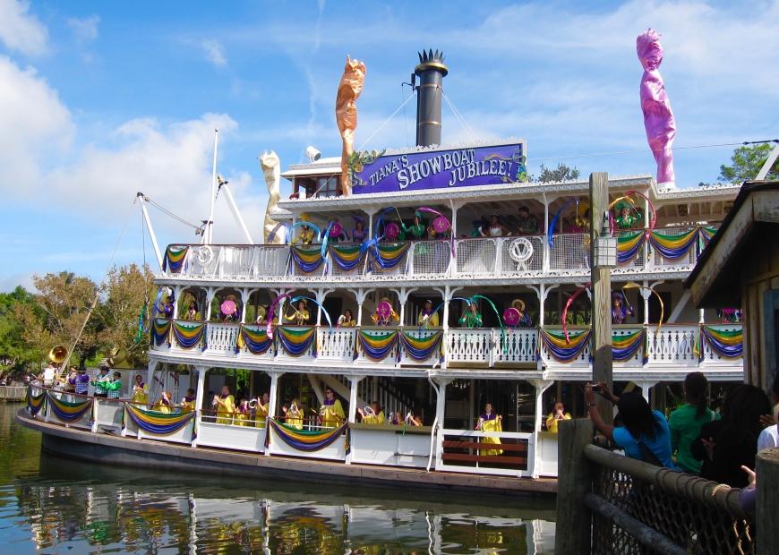 Princess Tiana showboat Jubilee - Disney World - htt://iamsherrelle.com