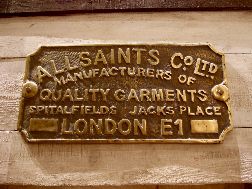 London Sightseeing - AllSaints Sign - http://aimsherrelle.com