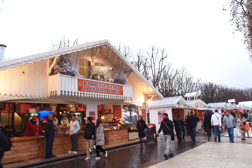 Paris-Christmas huts on Champs-Elysées http://iamsherrell.com