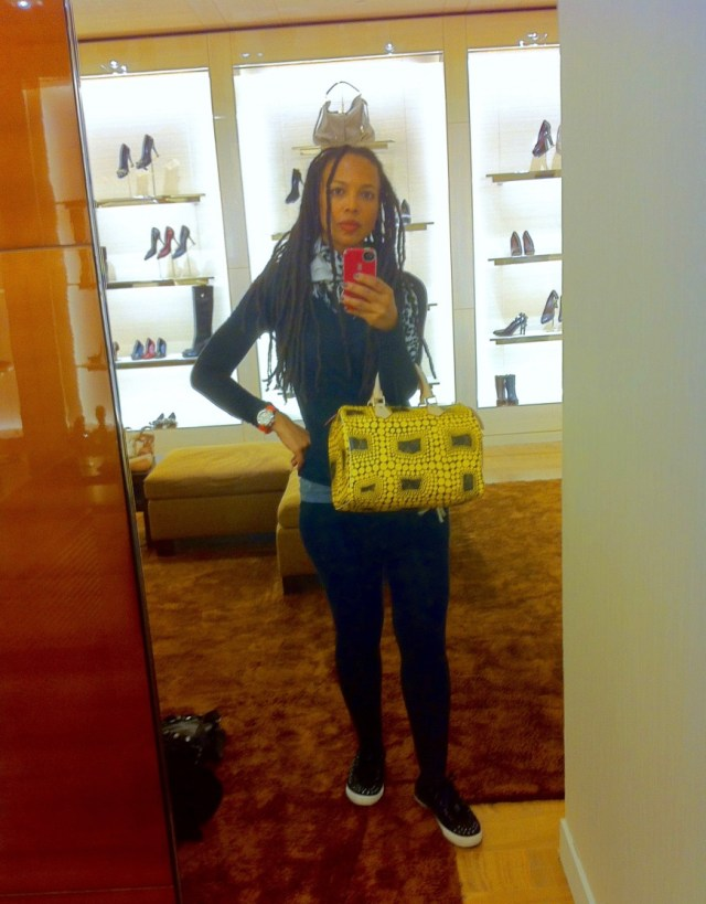 Louis Vuitton Kusama Selfie - http://iamsherrelle.com