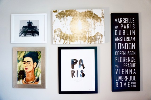 how to design an art gallery wall - office - http://iamsherrelle.com