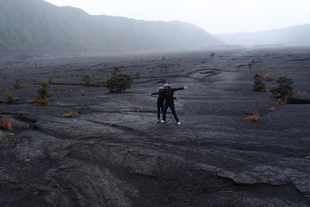 Standing on the Iki Crater at Volcano National Park is one the 7 Things You Must Do On The Big Island, Hawaii