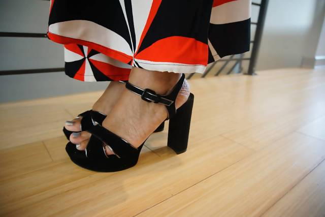 It's tricky to know what to to wear to a business party! These shoes from Stuart Weitzman are great. - Sherrelle