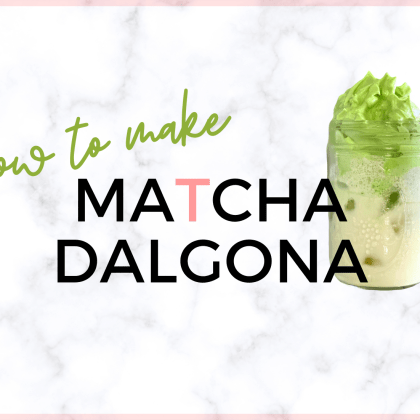 how to make a matcha dalgona