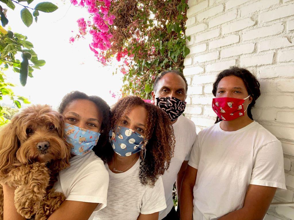 Sherrelle's family in masks post-pandemic