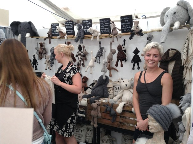 Kerry Lord at the Toft Alpaca Shop Stall