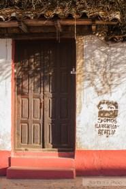 puerta san cristobal de las casas zapatista