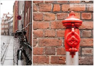 copenhague dinamarca calles bici hidrante ladrillo