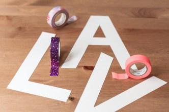 diy masking tape letras letters