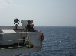 On watch in the Gulf of Aden / Indian Ocean