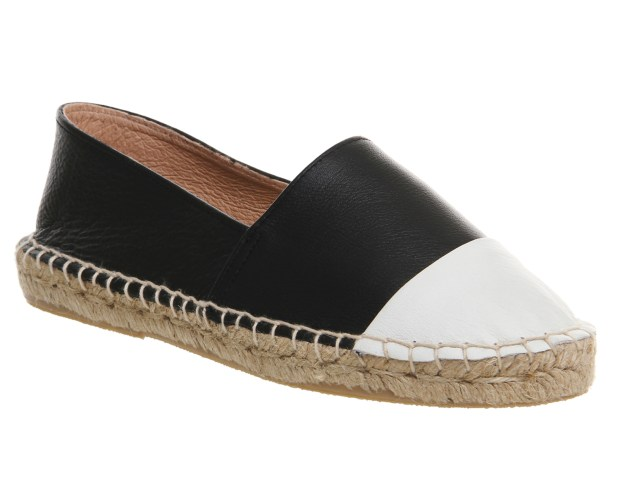 Lucky Espadrille With Cap Toe $61.55 (Black with White Cap Toe)