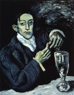 The Absinthe Drinker (Portrait of Angel Fernandez de Soto) - Pablo Picasso (1903)