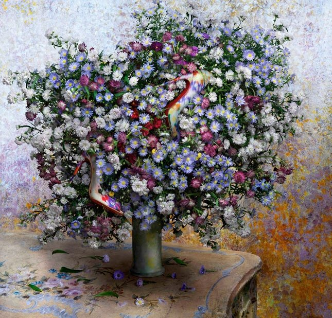 """""""A Vase of Asters"""" 1880 by Claude Monet"""