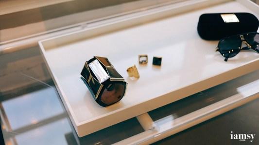 (left) Suede Bracelet HK$499, (right) Ring HK$149