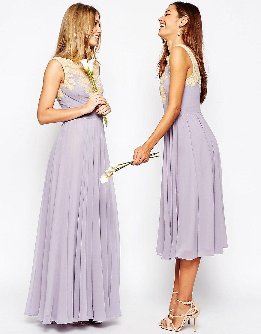 ASOS WEDDING Lace Applique Maxi Dress HKD$ 1,187.48
