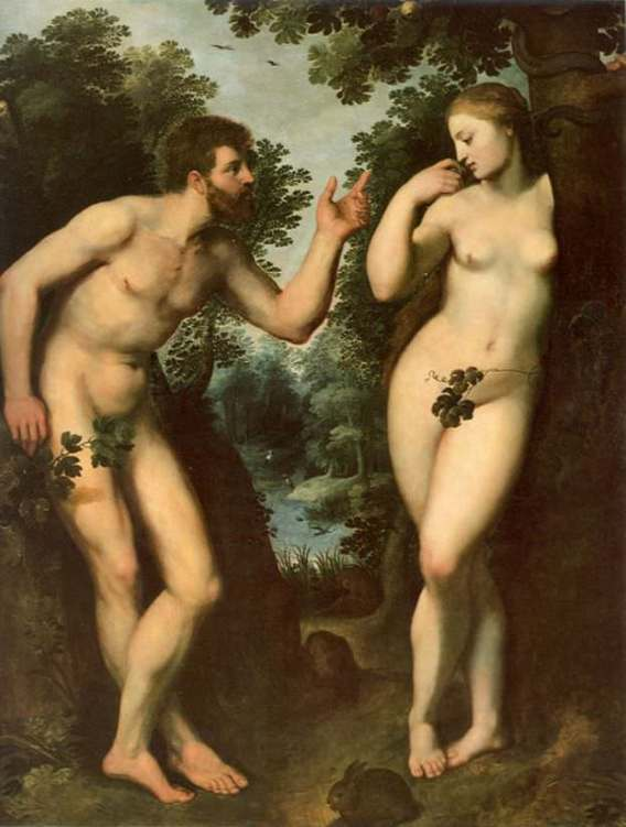 Adam and Eve by Peter Paul Rubens (1598-1600)