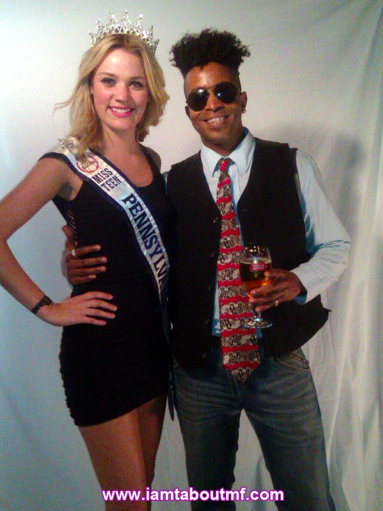 Miss Teen Pennsylvania & Tabou TMF aka Undefinable One at The Carlton for NYFW