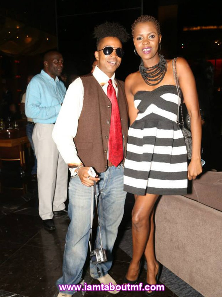 Tabou TMF aka Undefinable One & Model Rocky Hes at Chibase Productions Launch
