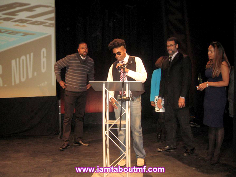 Tabou TMF aka Undefinable One accepting 2014 BETA Award for producing Undefinable Vision TV