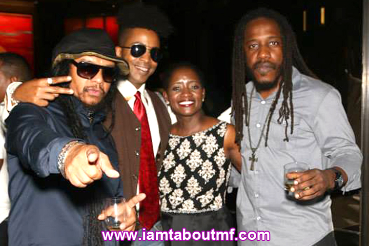 Maxi Priest, Tabou TMF aka Undefinable One, Chetachi Ecton, Wayne Marshall at Chibase Productions Launch Stone Rose Lounge