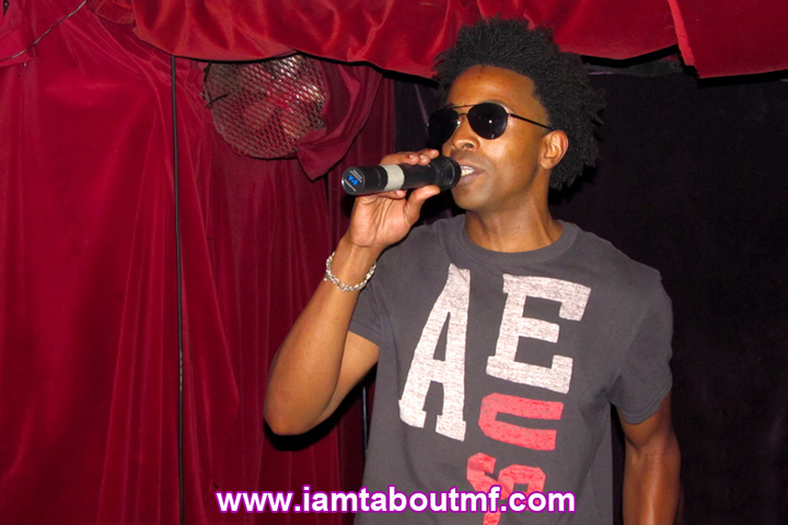 Tabou TMF aka Undefinable One rocking the mic live on stage at Karma Lounge