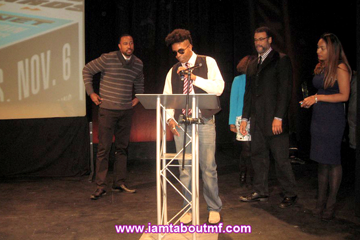 Tabou TMF aka Undefinable One accepting his BETA Award for Best Music Program