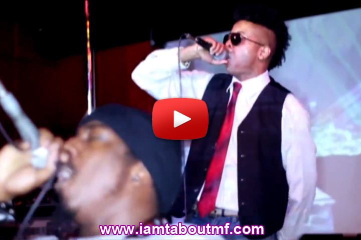 Tabou TMF aka Undefinable One & Path P performing 'Get That' live on stage @ R Bar in New York City