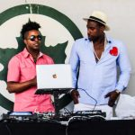 DJ Tabou TMF aka Undefinable One and Suave Luciano on the set in Brooklyn