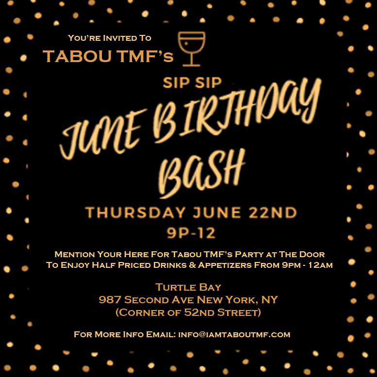 Tabou TMF June Birthday Bash at Turtle Bay