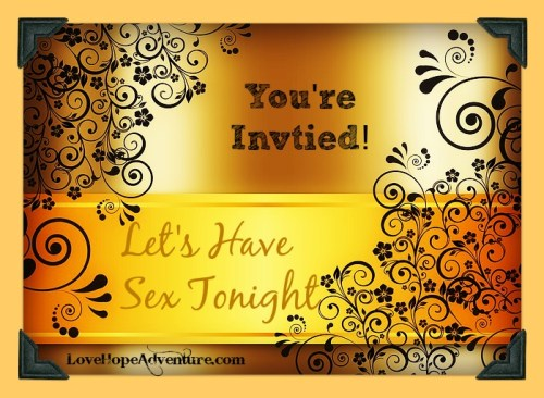 Lets have sex tonight