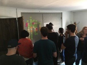 Automattic designers doing a collaborative design exercise