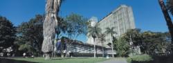 Facultad de Arquitectura y Urbanismo. Ciudad Universitaria. Foto: Luis Brito. Cortesía Archivo Copred