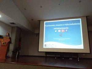María Magdalena Ziegler durante el taller Patrimonio, Museos e infociudadanía