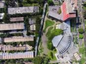 Vista cenital del campus. Ciudad Universitaria. Fotogrametría de Julián García. Cortesía Archivo Copred