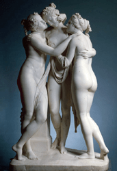 Las Tres Gracias, de Canova. Museo L'Ermitage, San Petersburgo.