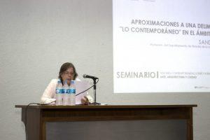 Sandra Pinardi. Seminario Maczul. Foto Raúl Chirino