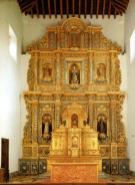 Retablo del Altar Mayor. Autor anónimo. Tallado entre 1750 y 1760. Pintado y dorado entre 1762 y 1763.