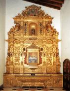 Retablo del Santo Niño de Belén. Tallado y dorado por Domingo Gutiérrez. 1764.