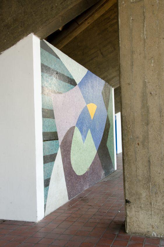 Mural de Armando Barrios, 1951,Estadio Universitario, UCV. Fotografía Luis Chacín, 2016.