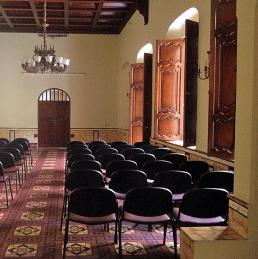 "Casa de la Historia ""Lorenzo A. Mendoza Quintero"".Salón de usos múltiples. Foto: Mayerling Zapata López."