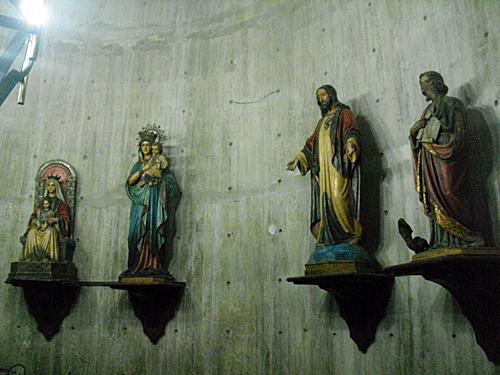 Virgen de Coromoto, Patrona de Venezuela; Virgen del Carmen, Sagrado Corazón de Jesús y San Juan Apóstol. Foto: Mildred Maury.