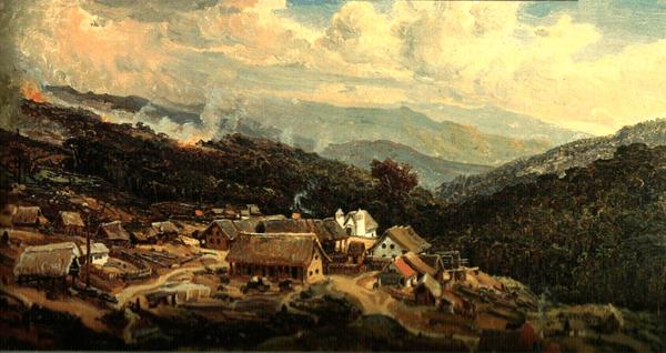 Ferdinand Bellerman. La colonia alemana de Tovar. 1844. Colecion de Museo Estadales en Berlin.
