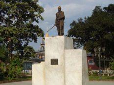 La estatua está allí desde 1984