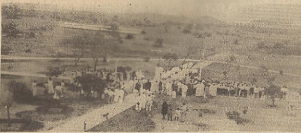 La plaza Bolívar de Puerto Ayacucho, en 1939.