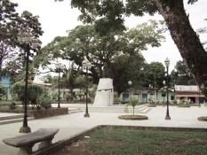 Bancos y árboles escoltan a Bolívar