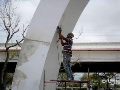 Restauración del Obelisco. Foto Alcaldía de Iribarren.