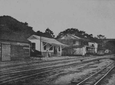 Estación de Aroa, Falcón. Fotos archivo de Florencio Sequera. Digitalizada por Luis Perozo P.