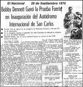 Reporte de prensa de la primera carrera en el Autódromo de San Carlos. Foto Diego Lupparelli.
