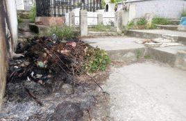 Quema de basura en el camposanto. Foto diarioeltiempo.com